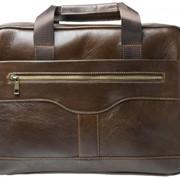 Портфель мужской GSMIN GL22 из натуральной кожи (Тёмно-коричневый) фото