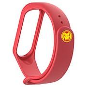 Силиконовый ремешок Железный Человек для Xiaomi Mi Band 4 (красный) фото