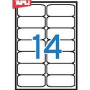 Этикетки всепогодные полиэстерные APLI , А4, закругленные края, белые, 99,1*38,1 мм, 280 шт. фото
