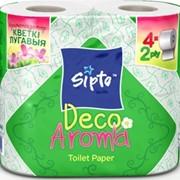 Туалетная бумага Sipto Deco Aroma, запах луговых цветов фото