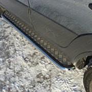 Пороги Chevrolet Niva 2009-наст. время (с площадкой 42 мм) фото