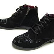 Ботинки с каблучком черные, арт. 1920-230215 фото