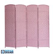 Аренда ширмы розовой, 180х200 см, 4 секции по 50 см фото