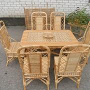 Изготовление мебели под заказ. Изготовление мебели из лозы и дерева. фото