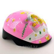 Шлем защитный, детский, светло-розовый фото