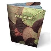 Обложка кожаная для паспорта Листья фото