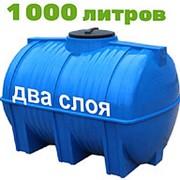 Резервуар для хранения воды и дизеля 1000 литров, синий, гор фото