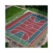 Нанесение покрытий резиновых для спортивных площадок фото