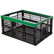 Ящик овощной складной черно-зеленый 38л фото