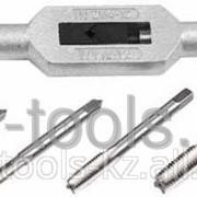 Набор металлорежущего инструмента Зубр Мастер, метчики однопроходные М4-М12, метчикодержатель - на карточке Код: 28126-H7 фото