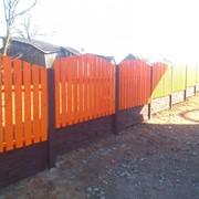 Забор бетонный и металлический в Колодищах фото