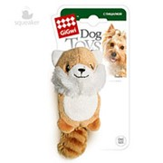 Игрушка для собак GiGwi Лисичка с 2-мя пищалками/ткань, пластик (арт.75014) фото