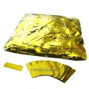 Конфетти металлизированное 17х55мм золото фото