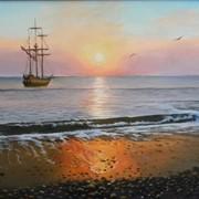 Картина живописная Морской пейзаж фото
