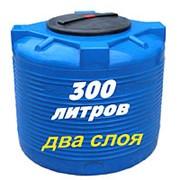 Резервуар для хранения воды и дизеля 300 литров, черный, верт фото