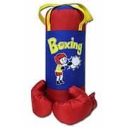 Набор BELON НБ-002-КрС/ПР2 Груша и перчатки BOXING 1, оксфорд фото