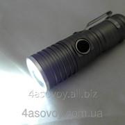 Яркий LED TORCH мини фонарик (комплект: зарядка, зарядка от авто аккумулятор) 0827 фото