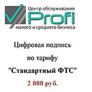 Электронно-цифровая подпись (ЭЦП) Стандартный ФТС фото