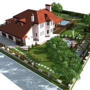 Ладщафтный дизайн и проектирование частных территорий фото