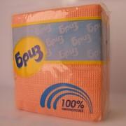 Салфетки бумажные Бриз цветные, 100 шт./пач. фото