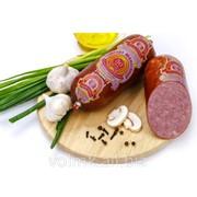 Колбаса варёно-копчёная Сервелат Юбилейный, салями высший сорт фото