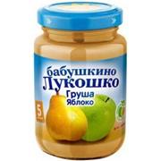 Б.лукошко пюре из груш и яблок (с 5 мес) б/сах. 200г фото