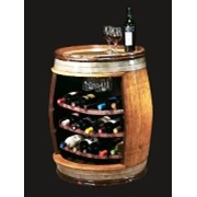 Мини-бар в виде бочки для хранения алгокольных напитков фото