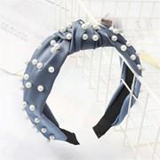Ободок с узлом - Жемчужный, цвет в ассортименте, голубой фото