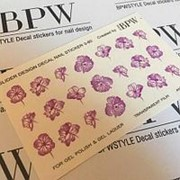 BPW.Style, Слайдер-дизайн «Цветы» №3-80, фиолетовый градиент фото