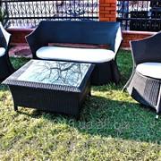 Комплект садовой мебели из ротанга -диван, кофейный столик, 2 кресла фото