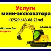 Услуги мини-экскаватора в Гомеле фото