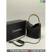 Сумка Chanel клатч круглый Шанель черный фото
