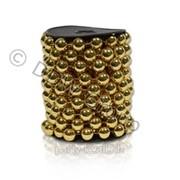 Декор Бусы жемчуг золотые d14ммх5м фото