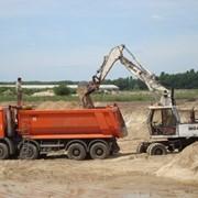 Песок речной навалом фото