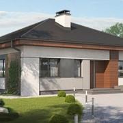Одноэтажный энергоэффективный дом, коттедж Корсика фото