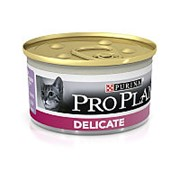 Pro Plan 85г конс. Delicate Влажный корм для взрослых кошек с чувствительным пищеварением Индейка фото