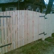 Ворота деревянные 1202 фото