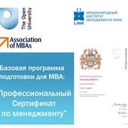 Базовая программа подготовки для обучения на МВА фото