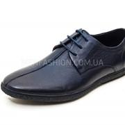 Туфли мужские FERMANI тёмно - синего цвета 073 фото