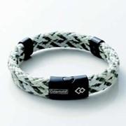 Colantotte Loop AMU bracelet Магнитный браслет, цвет Оливковый / Белый, размер S фото