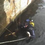 Обследование и ремонт подводных частей причальных стенок, опор мостов, тела плотин, Подводно-технические работы фото