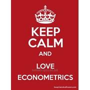 Курсовые по эконометрике и статистике фото