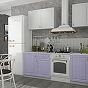 Модульная кухня Грандо белый +фиалка с фасадами МДФ фото