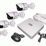 Сетевой комплект оборудования для видеонаблюдения KST-NS-A4 Kaansky 4-кан. IP KIT HDD 1TB фото