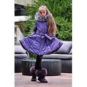 Куртка для девочек колокольчик (5 цветов) - Фиолетовый KL/-255 фото