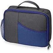 Изотермическая сумка-холодильник Breeze для ланч бокса, серый/синий фото