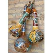 Фляжки из декоративной тыквы. фото