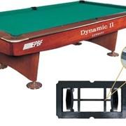 Бильярдный стол для пула DINAMIC II 9 ф коричневый фото