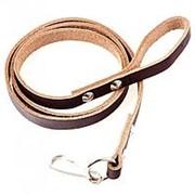 Ремень (тренчик) страховочный кожаный, коричневый для пистолета фото