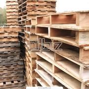 Грузовые деревянные восстановленные поддоны фото